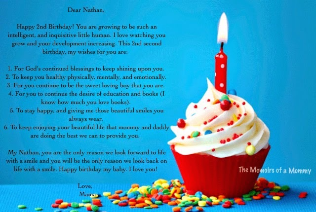Birthday Wish For My Son The Memoirs Of A Mommy